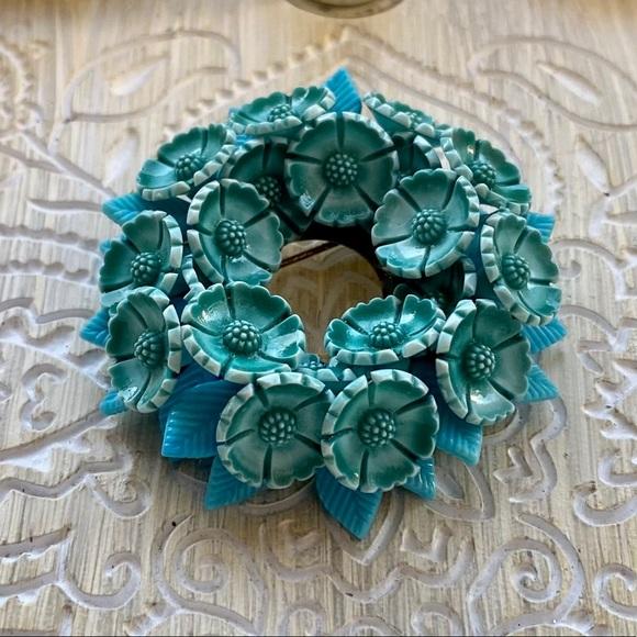 Vintage made in Germany floral brooch